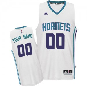 Charlotte Hornets Personnalisé Adidas Home Blanc Maillot d'équipe de NBA Braderie - Authentic pour Enfants