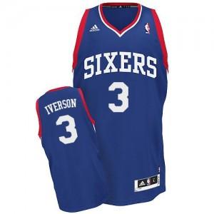 Maillot Adidas Bleu royal Alternate Swingman Philadelphia 76ers - Allen Iverson #3 - Homme