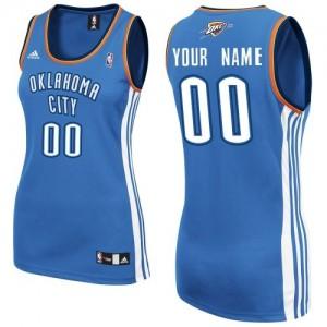 Oklahoma City Thunder Swingman Personnalisé Road Maillot d'équipe de NBA - Bleu royal pour Femme