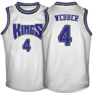 Maillot Adidas Blanc Throwback Swingman Sacramento Kings - Chris Webber #4 - Homme