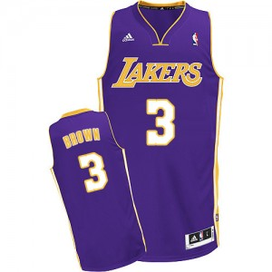 Maillot NBA Swingman Anthony Brown #3 Los Angeles Lakers Road Violet - Homme