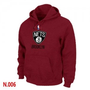Sweat à capuche Rouge Brooklyn Nets - Homme