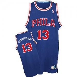 Philadelphia 76ers Wilt Chamberlain #13 Throwback Swingman Maillot d'équipe de NBA - Bleu / Rouge pour Homme