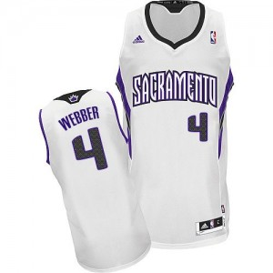 Maillot Adidas Blanc Home Swingman Sacramento Kings - Chris Webber #4 - Homme