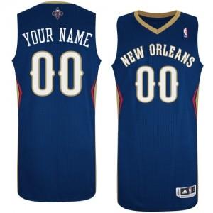 Maillot NBA New Orleans Pelicans Personnalisé Authentic Bleu marin Adidas Road - Homme