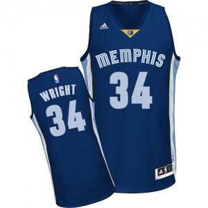 Memphis Grizzlies Brandan Wright #34 Road Swingman Maillot d'équipe de NBA - Bleu marin pour Homme