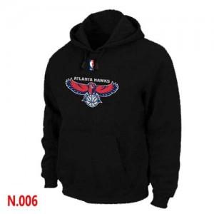 Atlanta Hawks Sweat à capuche d'équipe de NBA - Noir pour Homme