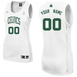 Maillot NBA Boston Celtics Personnalisé Swingman Blanc Adidas Home - Femme