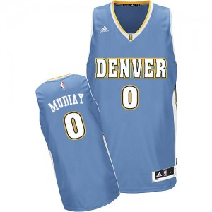 Maillot Adidas Bleu clair Road Swingman Denver Nuggets - Emmanuel Mudiay #0 - Homme
