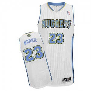 Maillot Authentic Denver Nuggets NBA Home Blanc - #23 Jusuf Nurkic - Homme