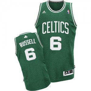 Boston Celtics Bill Russell #6 Road Swingman Maillot d'équipe de NBA - Vert (No Blanc) pour Homme