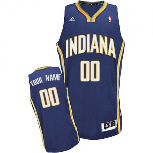 Maillot Adidas Bleu marin Road Indiana Pacers - Swingman Personnalisé - Homme