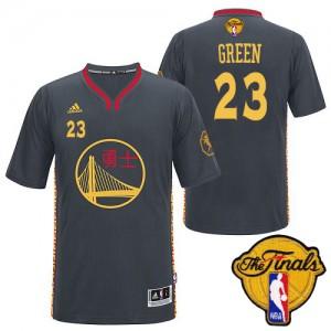 Golden State Warriors Draymond Green #23 Slate Chinese New Year 2015 The Finals Patch Swingman Maillot d'équipe de NBA - Noir pour Homme