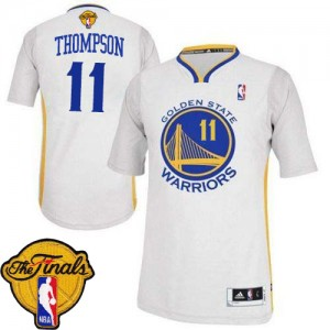 Maillot NBA Blanc Klay Thompson #11 Golden State Warriors Alternate 2015 The Finals Patch Authentic Femme Adidas