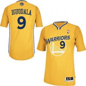 Golden State Warriors Andre Iguodala #9 Alternate Authentic Maillot d'équipe de NBA - Or pour Homme
