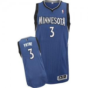 Minnesota Timberwolves #3 Adidas Road Slate Blue Authentic Maillot d'équipe de NBA 100% authentique - Adreian Payne pour Homme