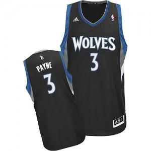 Minnesota Timberwolves Adreian Payne #3 Alternate Swingman Maillot d'équipe de NBA - Noir pour Homme