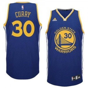 Maillot Swingman Golden State Warriors NBA Resonate Fashion Bleu - #30 Stephen Curry - Homme