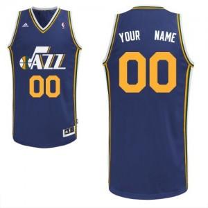 Utah Jazz Personnalisé Adidas Road Bleu marin Maillot d'équipe de NBA pour pas cher - Swingman pour Homme