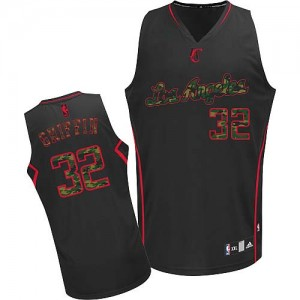 Maillot NBA Camo noir Blake Griffin #32 Los Angeles Clippers Fashion Authentic Homme Adidas