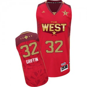 Maillot NBA Authentic Blake Griffin #32 Los Angeles Clippers 2011 All Star Rouge - Homme