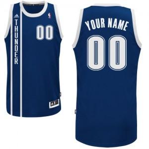 Maillot NBA Bleu marin Swingman Personnalisé Oklahoma City Thunder Alternate Homme Adidas