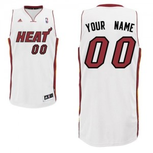 Maillot NBA Swingman Personnalisé Miami Heat Home Blanc - Homme