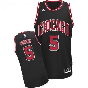 Chicago Bulls #5 Adidas Alternate Noir Swingman Maillot d'équipe de NBA Magasin d'usine - Bobby Portis pour Homme