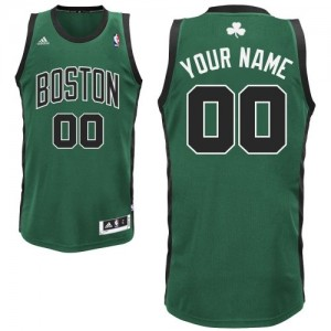 Maillot NBA Boston Celtics Personnalisé Swingman Vert (No. noir) Adidas Alternate - Enfants