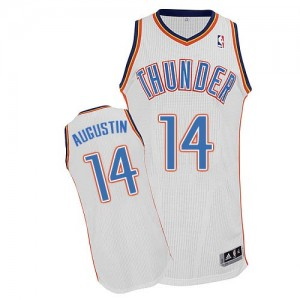Maillot NBA Authentic D.J. Augustin #14 Oklahoma City Thunder Home Blanc - Homme