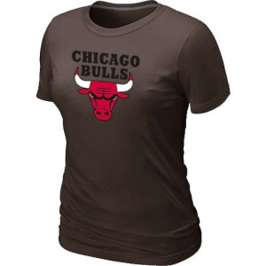 Tee-Shirt NBA Chicago Bulls Big & Tall marron - Femme