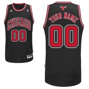 Maillot Adidas Noir Alternate Chicago Bulls - Swingman Personnalisé - Homme