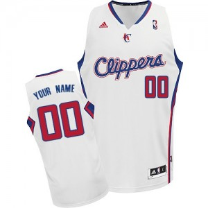 Maillot NBA Los Angeles Clippers Personnalisé Swingman Blanc Adidas Home - Enfants