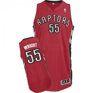 Toronto Raptors Delon Wright #55 Road Authentic Maillot d'équipe de NBA - Rouge pour Homme