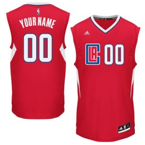 Maillot NBA Rouge Authentic Personnalisé Los Angeles Clippers Road Homme Adidas