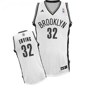 Brooklyn Nets #32 Adidas Home Blanc Swingman Maillot d'équipe de NBA prix d'usine en ligne - Julius Erving pour Homme