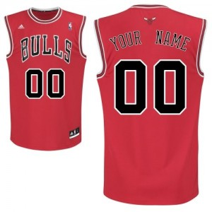 Maillot NBA Swingman Personnalisé Chicago Bulls Road Rouge - Enfants