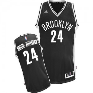 Maillot Adidas Noir Road Swingman Brooklyn Nets - Rondae Hollis-Jefferson #24 - Homme