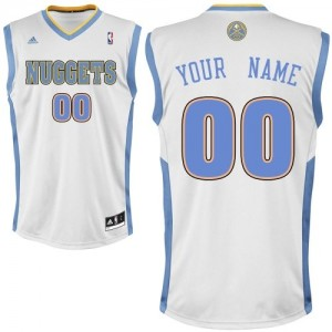 Maillot NBA Denver Nuggets Personnalisé Swingman Blanc Adidas Home - Homme