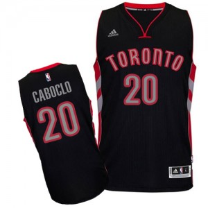 Maillot NBA Toronto Raptors #20 Bruno Caboclo Noir Adidas Swingman Alternate - Homme
