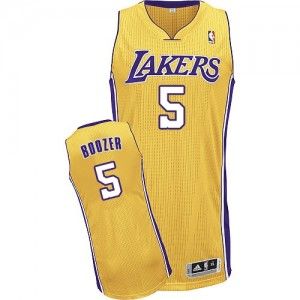 Los Angeles Lakers Carlos Boozer #5 Home Authentic Maillot d'équipe de NBA - Or pour Homme