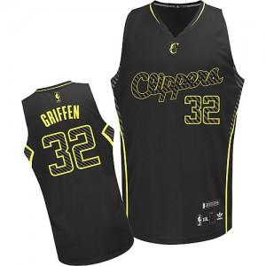 Los Angeles Clippers #32 Adidas Electricity Fashion Noir Authentic Maillot d'équipe de NBA Braderie - Blake Griffin pour Homme