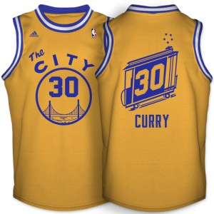 Golden State Warriors #30 Adidas Throwback The City Or Swingman Maillot d'équipe de NBA pas cher - Stephen Curry pour Homme