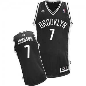Maillot NBA Noir Joe Johnson #7 Brooklyn Nets Road Swingman Homme Adidas