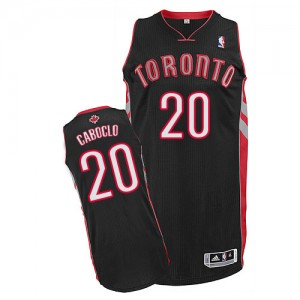 Maillot NBA Toronto Raptors #20 Bruno Caboclo Noir Adidas Authentic Alternate - Homme