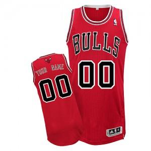 Chicago Bulls Authentic Personnalisé Road Maillot d'équipe de NBA - Rouge pour Enfants