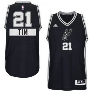 Maillot NBA Swingman Tim Duncan #21 San Antonio Spurs 2014-15 Christmas Day Noir - Enfants