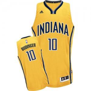 Indiana Pacers #10 Adidas Alternate Or Swingman Maillot d'équipe de NBA Le meilleur cadeau - Chase Budinger pour Homme