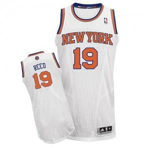 Maillot NBA Blanc Willis Reed #19 New York Knicks Home Authentic Homme Adidas