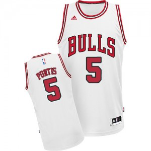 Maillot Adidas Blanc Home Swingman Chicago Bulls - Bobby Portis #5 - Homme
